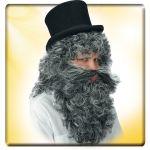 Parrucca e barba Mangiafuoco in busta