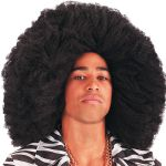 Parrucca Black ø cm. 50 in valigetta