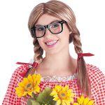 Parrucca Patty c/occhiali in valigetta