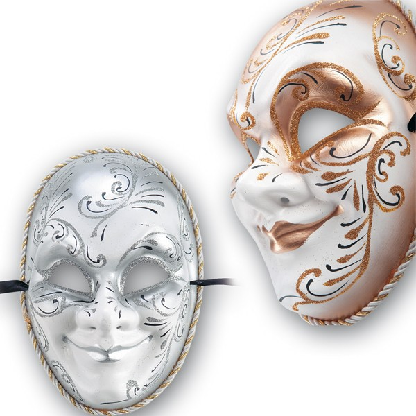 Maschera In Cartapesta Decorata -  - ebay.it