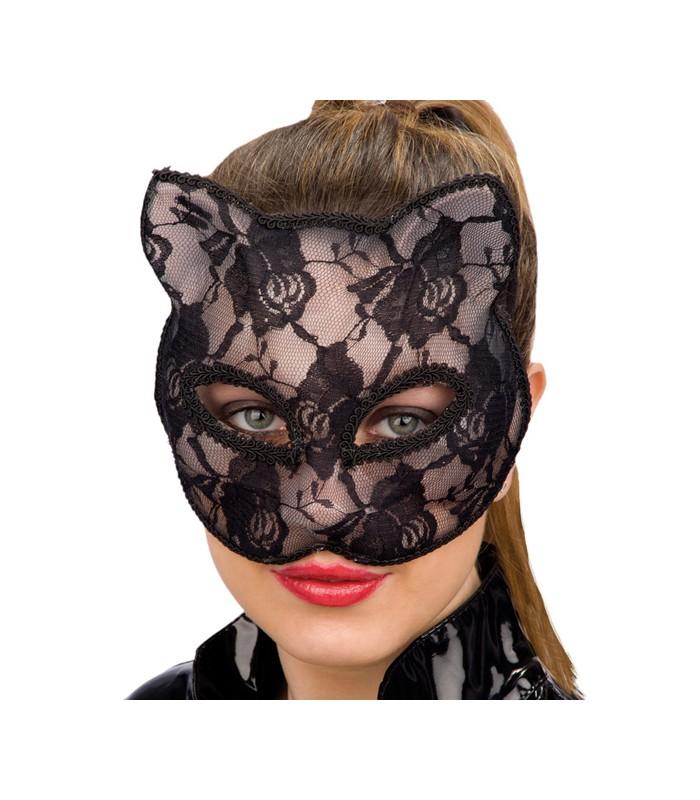 Maschera gatto in pizzo nera pelatelli - Pagina colorazione maschera gatto ...