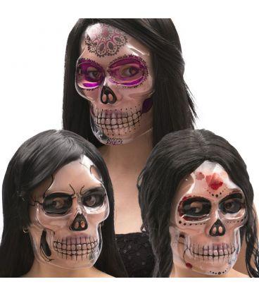 Maschera teschio donna in plastica trasparente