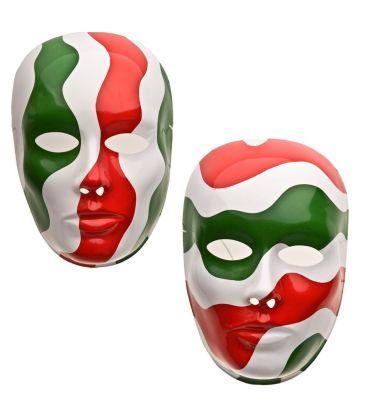 Maschera viso grande tricolore in plastica