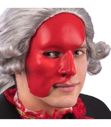 Maschera mezzo viso rossa in plastica