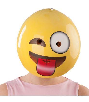 Maschera emoticon linguaccia in plastica