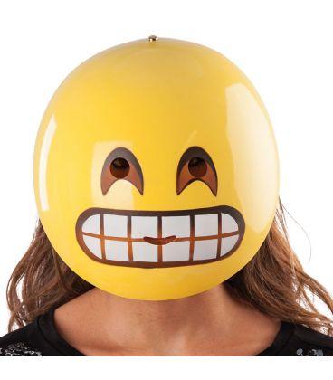 Maschera emoticon sorriso in plastica