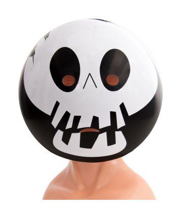 Maschera emoticon scheletro in plastica