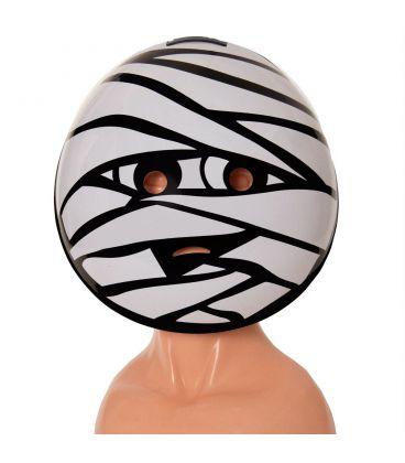 Maschera emoticon mummia in plastica