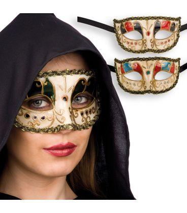 Maschera veneziana in plastica col. ass.