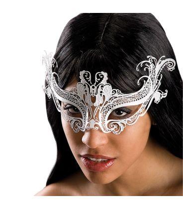 Maschera bianca in metallo