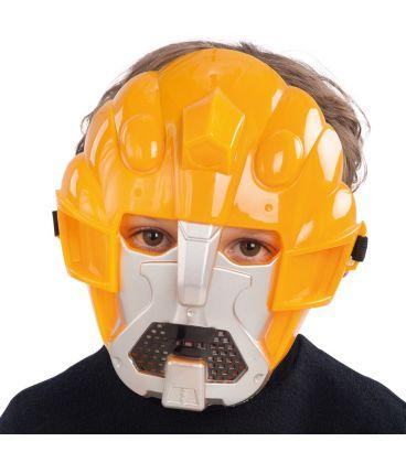 Maschera stellare gialla in plastica rigida
