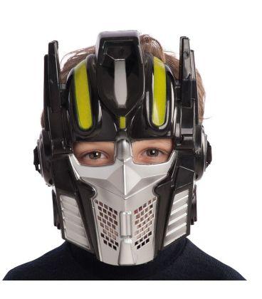 Maschera robot nera in plastica rigida
