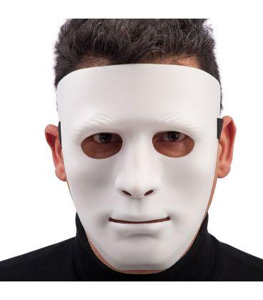 Maschera viso bianco in plastica rigida