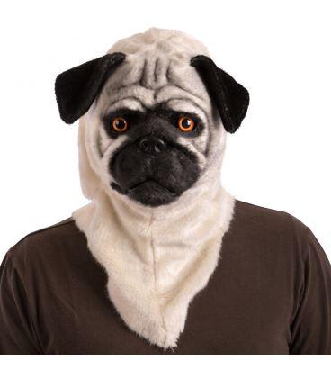 Maschera cane lusso in peluche mandibola mobile