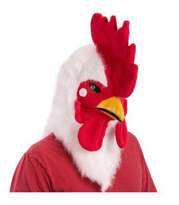 Maschera gallo lusso in peluche mandibola mobile
