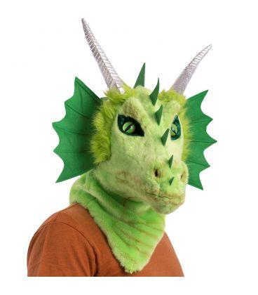 Maschera drago lusso in peluche mandibola mobile