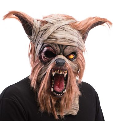 Maschera gigante lupo bende in lattice e pelo