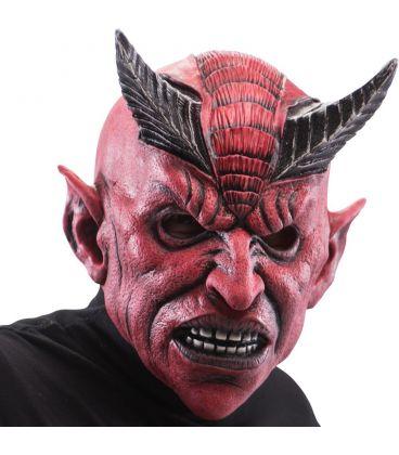 Maschera diavolo in lattice