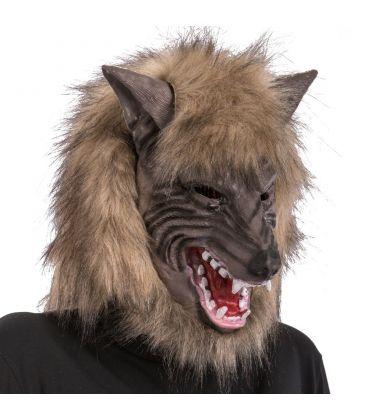 Maschera lupo in fingomma pelliccia