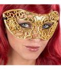 Maschera in plastica intagliata oro