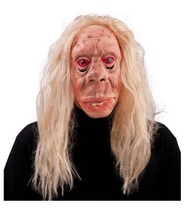 Maschera vecchia megera in lattice capelli biondi