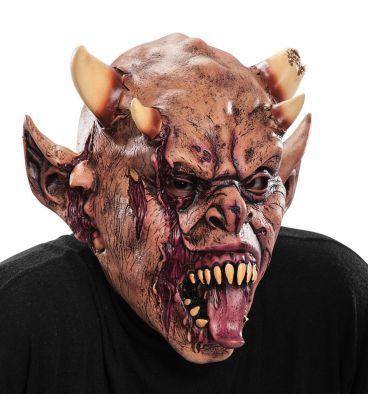 Maschera zombie in lattice linguaccia e corna