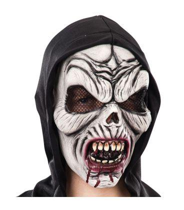 Maschera vampiro in lattice cappuccio