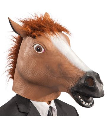 Maschera cavallo in fingomma euro 18.10
