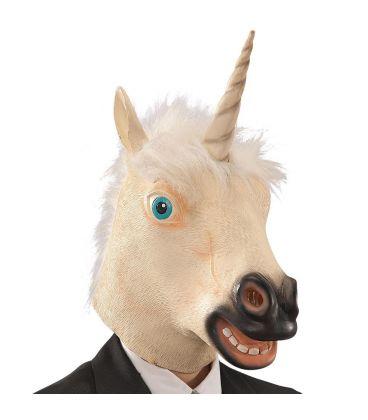 Maschera unicorno in fingomma