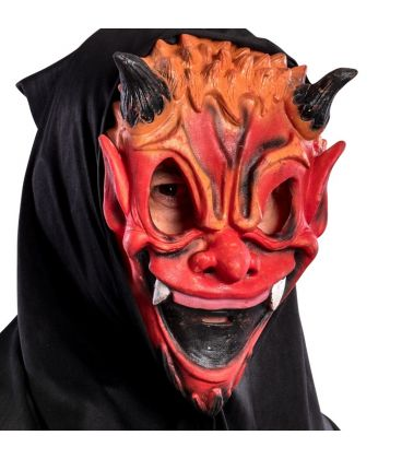 Maschera diavolo in fingomma cappuccio