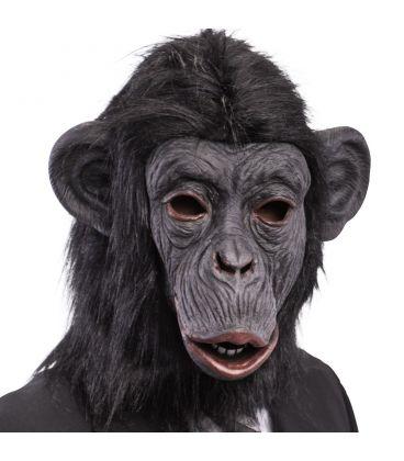 Maschera gorilla in lattice pelo
