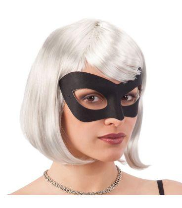 Maschera nera in tessuto cav.