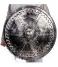Scudo medievale argento diam. cm. 60 ca.