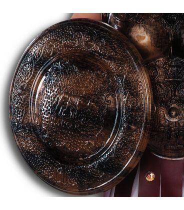 Scudo romano diam. cm. 40 ca. serigrafato oro