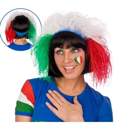 Fascia azzurra capelli Italia