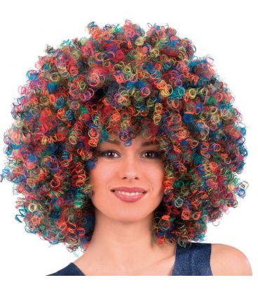 Parrucca super ricciolona multicolor (gr.190 ca.)