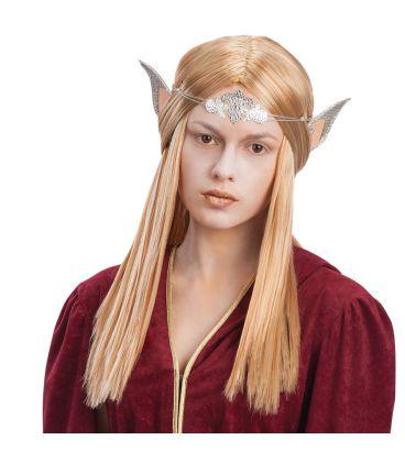 Parrucca elfo donna con orecchie e diadema