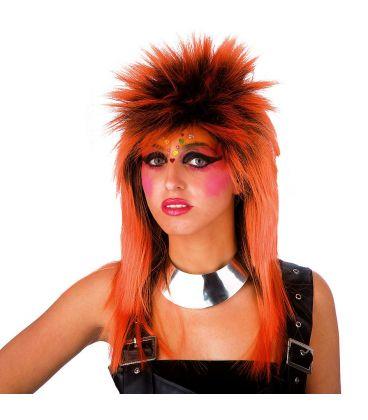 Parrucca punk arancione