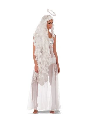 Parrucca angelo lunghissima aureola l. cm. 150 ca.