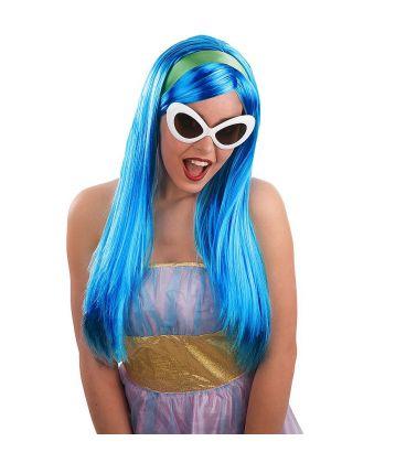 Parrucca Giulia blu