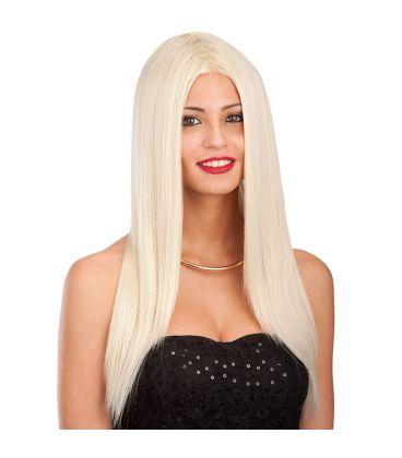 Parrucca bionda liscia lunga (effetto naturale)