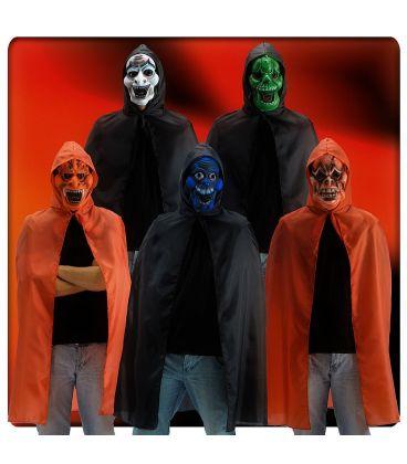 Set horror (mantello cappuccio e maschera in eva)