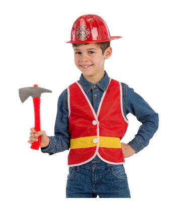 Set pompiere (gilet, cappello e accetta)