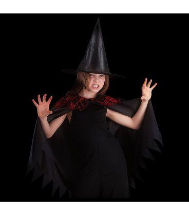 Set strega nera bimba (mantello e cappello)