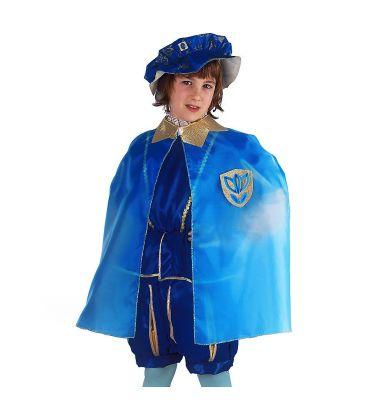 Set Principe Azzurro (mantello in taffetas e cappello)