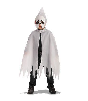 Set fantasma (mantello cappuccio l. cm. 70 ca. e maschera in eva)