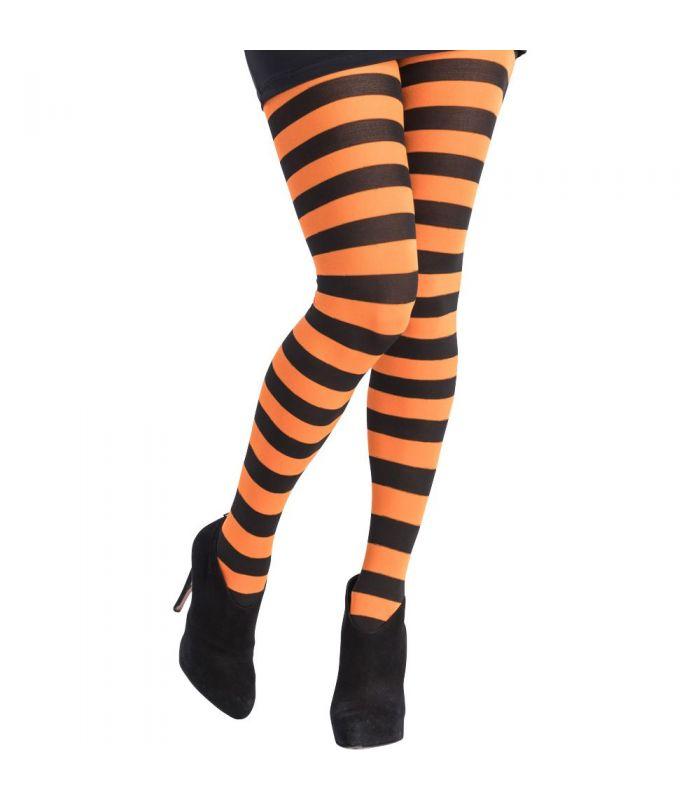 colore attraente elegante e grazioso maggiore sconto di vendita Collant a righe arancioni e nere T.U.