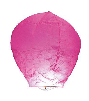 3 mongolfiere rosa h. cm. 95 ca.