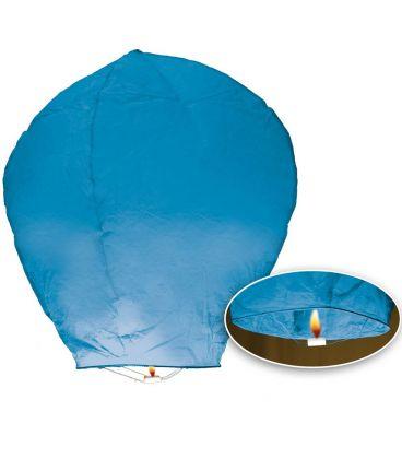 3 mongolfiere azzurre h. cm. 95 ca.