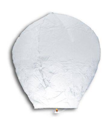 3 mongolfiere bianche h. cm. 95 ca.